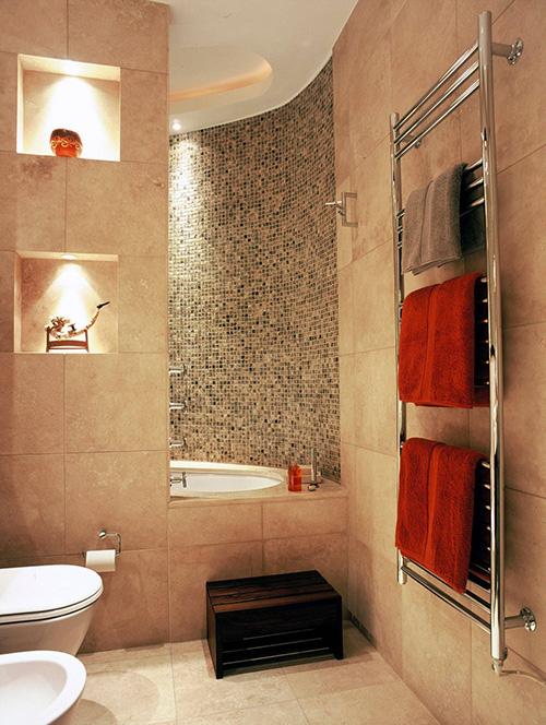 Фото полотенцесушитель в ванной