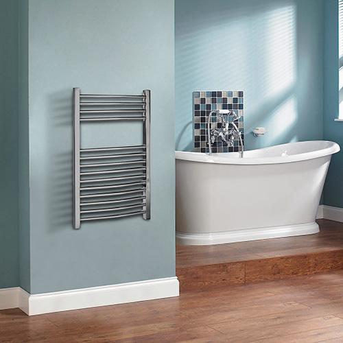 Фото полотенцесушитель в стильной ванной