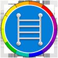 Фото иконка полотенцесушители цветные
