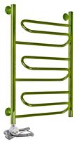 Электрический полотенцесушитель Aquanerzh Зиг-заг бронза (левое подключение)
