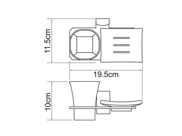 Фото 6898: Держатель стакана и мыльницы WasserKRAFT К-5026