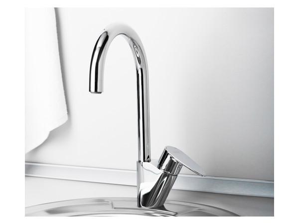 Фото 8836: Смеситель для кухни с поворотным изливом Wasserkraft Leine 3507