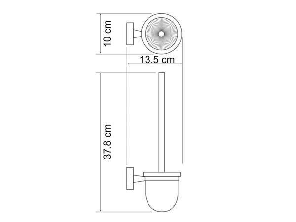 Фото 4031: Щетка для унитаза подвесная WasserKRAFT К-4027