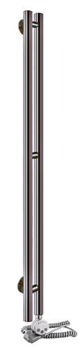 Электрический полотенцесушитель Aquanerzh Вертикаль черный (правое подключение)
