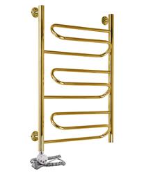 Электрический полотенцесушитель Акванерж Зиг-заг золото (левое подключение)