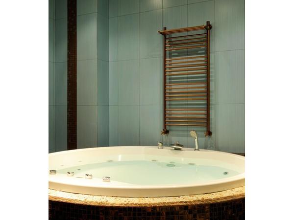 Фото 8085: Водяной полотенцесушитель Сунержа Богема + 4 полки 1200х400