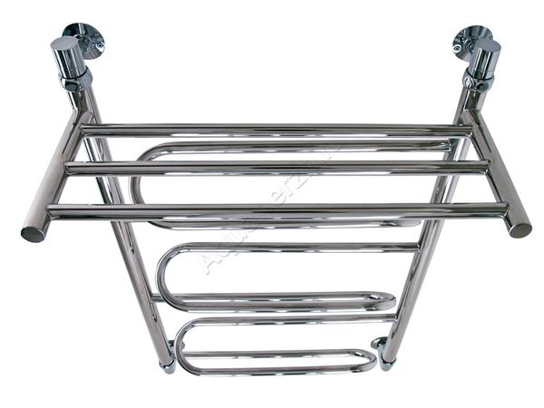 Электрический полотенцесушитель Акванерж зиг-заг с полкой (вид сверху)