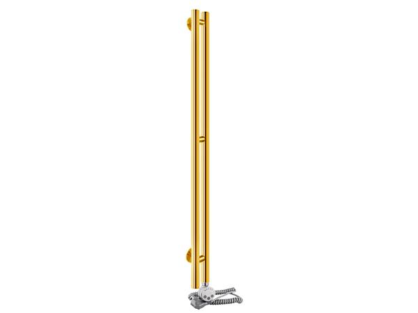 Электрический полотенцесушитель Aquanerzh Вертикаль золото (правое подключение)