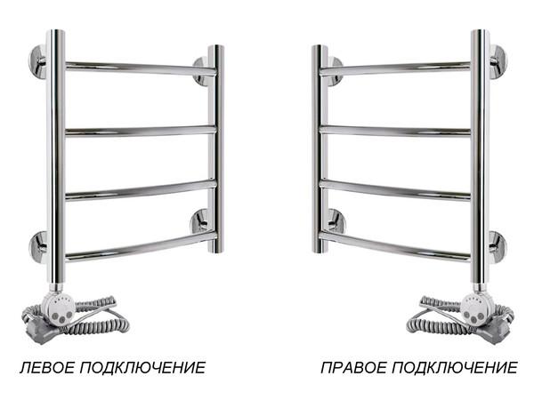 Электрический полотенцесушитель Акванерж дуга 500x400 (подключение)