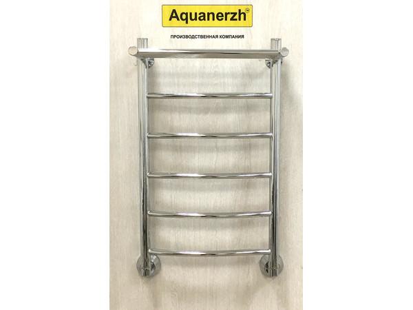 Водяной полотенцесушитель Акванерж Дуга с полкой 700x500 (интерьер_1)