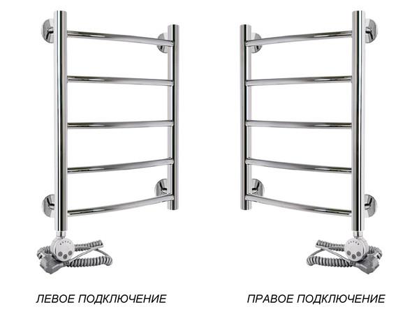 Электрический полотенцесушитель Акванерж дуга 600x400 (подключение)