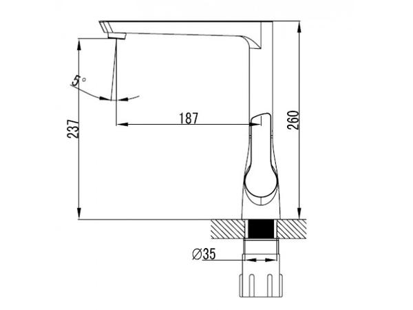 Смеситель для кухни Kaiser Atrio 60144/60155 (схема)