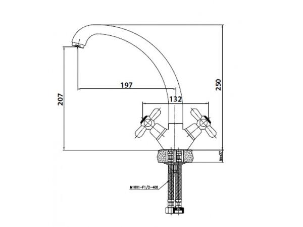 Смеситель для кухни KaiserCarlson 11033 (схема)