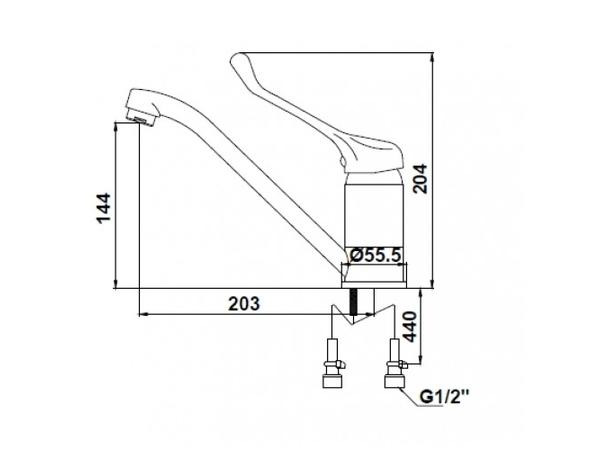 Смеситель для кухни Kaiser City 21033 (схема)