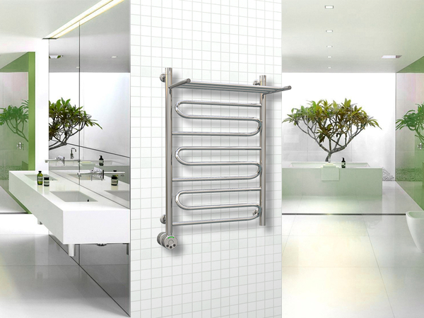Электрический полотенцесушитель Акванерж зиг-заг с полкой 800x600