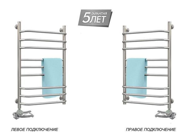 Электрический полотенцесушитель Акванерж Трапеция прямая групповая 800x500