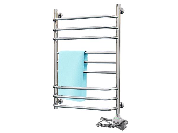 Электрический полотенцесушитель Акванерж Трапеция прямая групповая 800x500 (правое подключение)