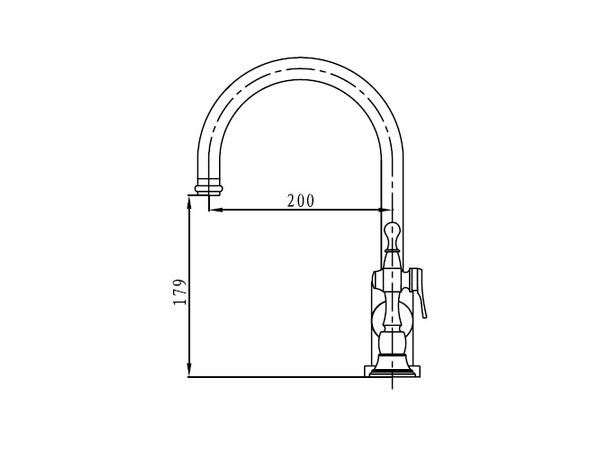 Смеситель для кухни Kaiser King 2070790 (схема)
