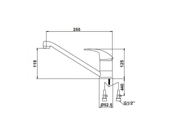 Смеситель для кухни Kaiser Magistro 14011-1 (схема)