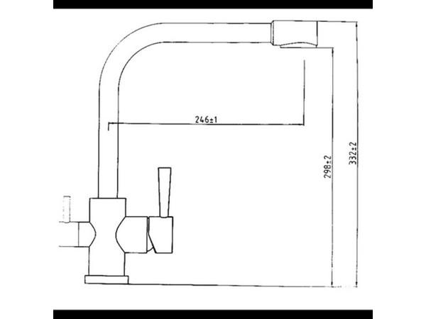 Смеситель для кухни под фильтр Kaiser Merkur 26044-8 (схема)