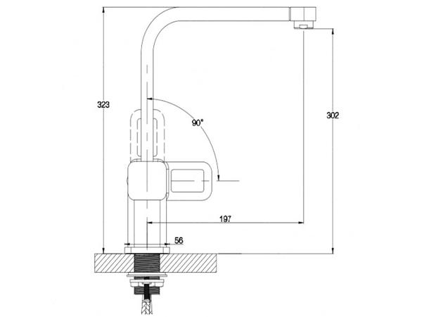 Смеситель для кухни Kaiser Sharp 64044 (схема)
