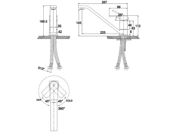 Смеситель для кухни Kaiser Sonat 34033-3 (схема)