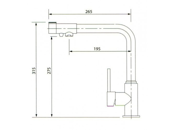 Смеситель для кухни под фильтр Kaiser Teka 13044-1 (схема)