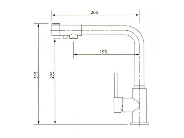 Смеситель для кухни под фильтр Kaiser Teka 13044-9 (схема)