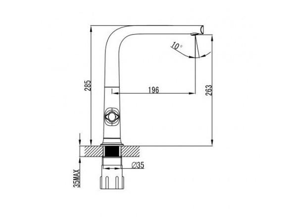 Смеситель для кухни Kaiser Topaz 17133 (схема)