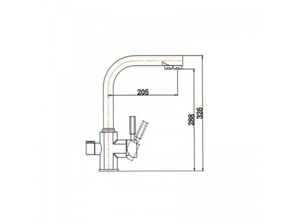 Смеситель для кухни под фильтр Kaiser Decor 40144-8 (схема)