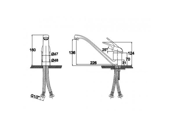 Смеситель для кухни Kaiser Douglas 12011-1 (схема)