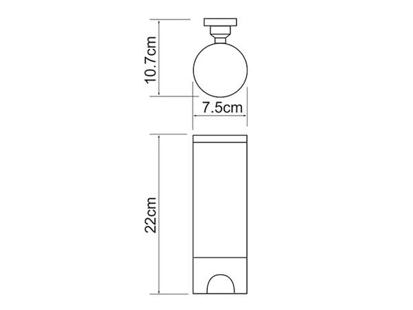 Фото 8546: Диспенсер для ватных дисков WasserKRAFT K-1079