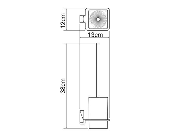 Фото 3973: Щетка для унитаза подвесная WasserKRAFT К-5027