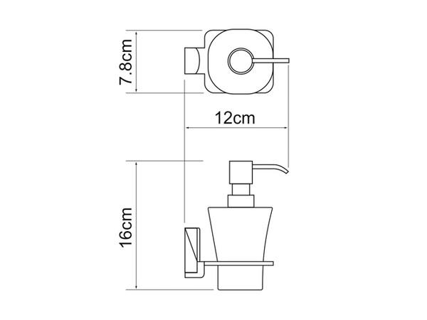 Фото 7191: Стеклянный дозатор для жидкого мыла WasserKRAFT К-5099