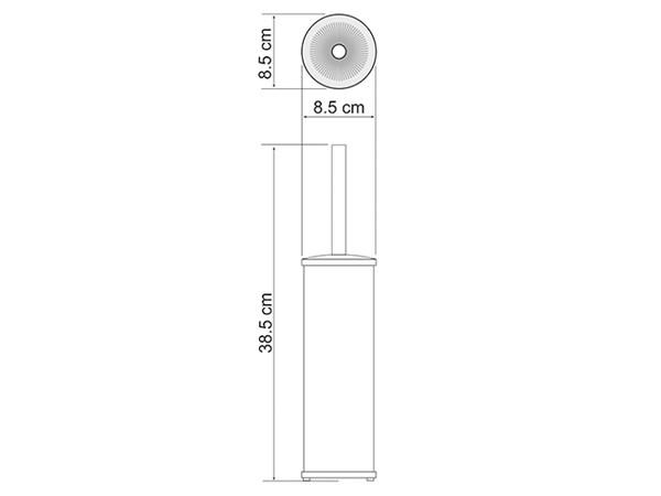 Фото 6561: Щетка для унитаза напольная матовый хром WasserKRAFT К-1047
