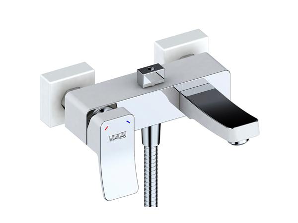 Фото 5121: Смеситель для ванны с коротким изливом Wasserkraft Aller 1061 белый