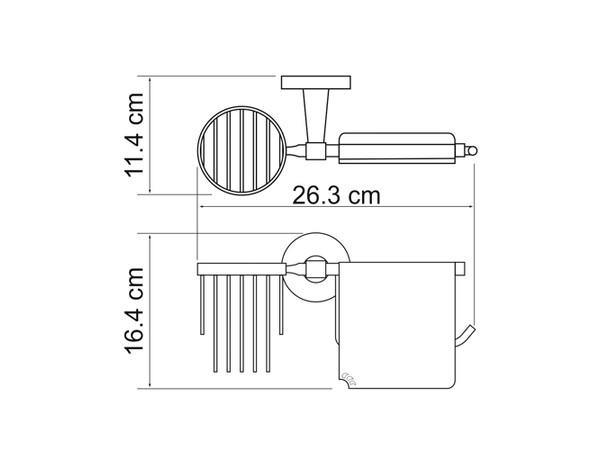 Фото 1332: Держатель туалетной бумаги и освежителя WasserKRAFT К-4059